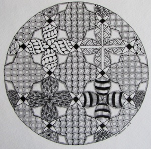 Quadrifoglio Zentangle